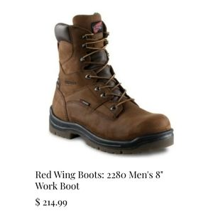 """Red Wing Shoes 2280 Men's 8"""" Work Boots 9.5 D"""